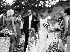 L'ingresso degli sposi - Daniele Panareo Fotografo matrimonio Lecce