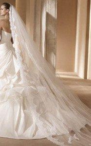 abito da sposa con velo a cascata - Daniele Panareo fotografo Matrimonio Lecce