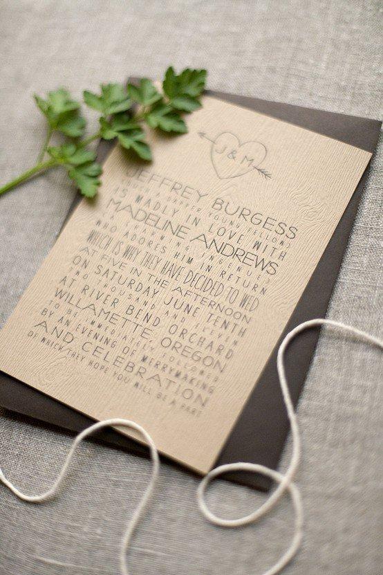 Popolare Partecipazioni di matrimonio: la carta, il carattere, la busta  RV81
