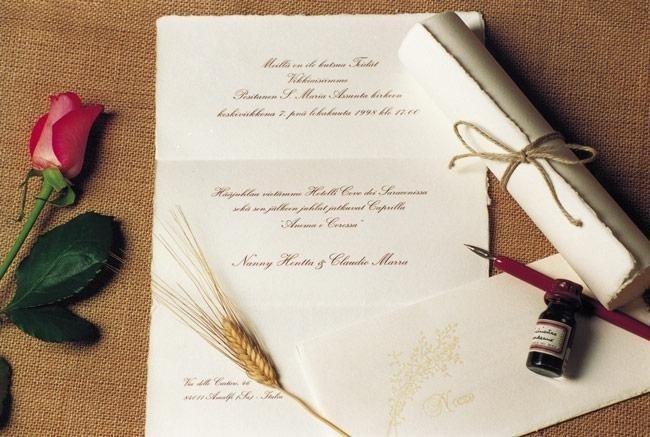 Conosciuto Partecipazioni di matrimonio: la carta, il carattere, la busta  LL79