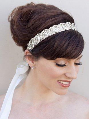 Acconciatura sposa accessori capelli coroncina e nastro - Daniele Panareo Fotografo matrimonio Lecce