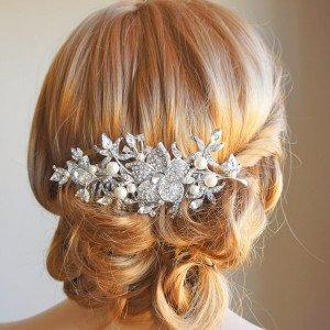 Acconciatura sposa accessori capelli fermaglio swarovski - Daniele Panareo Fotografo matrimonio Lecce