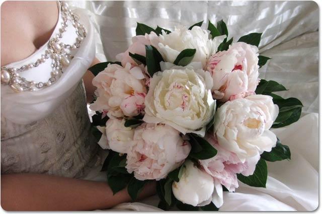 il bouquet sposa classico con peonie - Daniele Panareo fotografo di matrimoni a Lecce e provincia