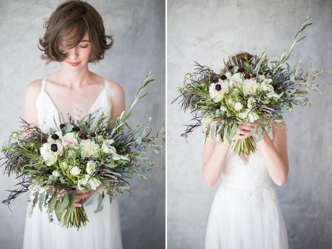 il bouquet sposa non solo fiori ma anche erba e ulivo - Daniele Panareo fotografo di matrimoni a Lecce e provincia