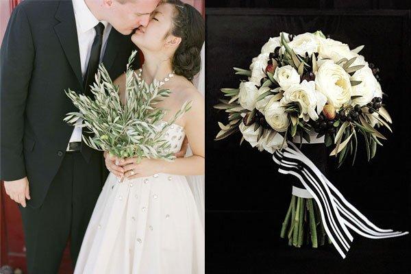 il bouquet sposa non solo fiori nuova idea con olive - Daniele Panareo fotografo di matrimoni a Lecce e provincia
