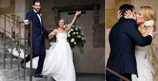 Tommaso Trussardi in smoking e MIchelle Hunziker al matrimonio - Daniele Panareo fotografo matrimonio Lecce