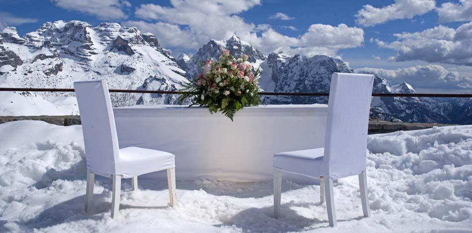 tavolo matrimonio in montagna - Daniele Panareo fotografo