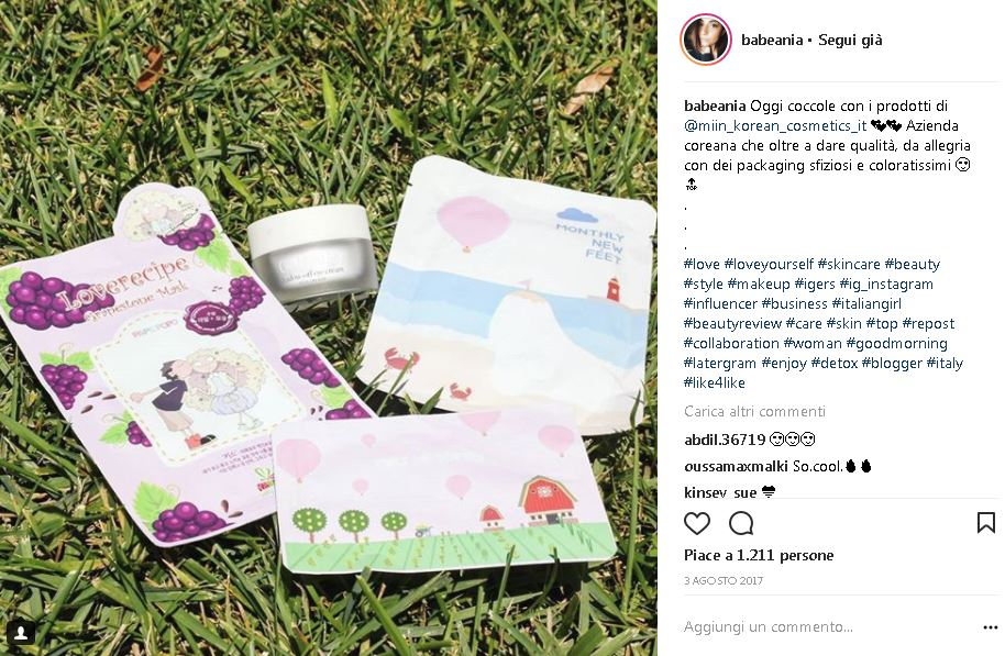 Instagrammer e influencer salentina BabeAnia prodotto recensito