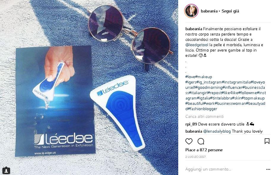 Instagrammer e influencer salentina BabeAnia prodotto