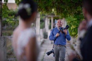 Reportage di matrimonio a Lecce. Il fotografo Daniele Panareo in azione