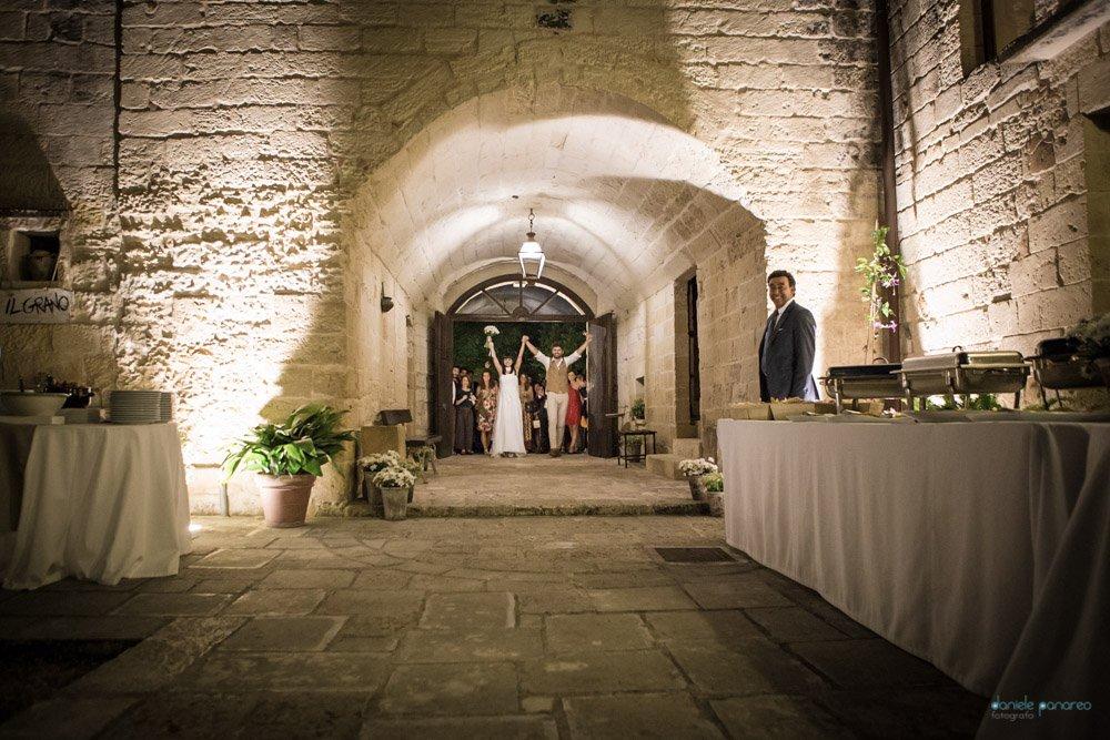 Masseria San lorenzo sulla Lecce-Frigole ingresso sposi